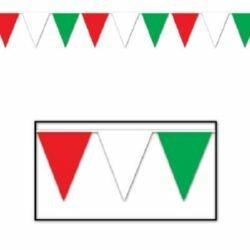 Pennant Flag Banner Red, White & Green