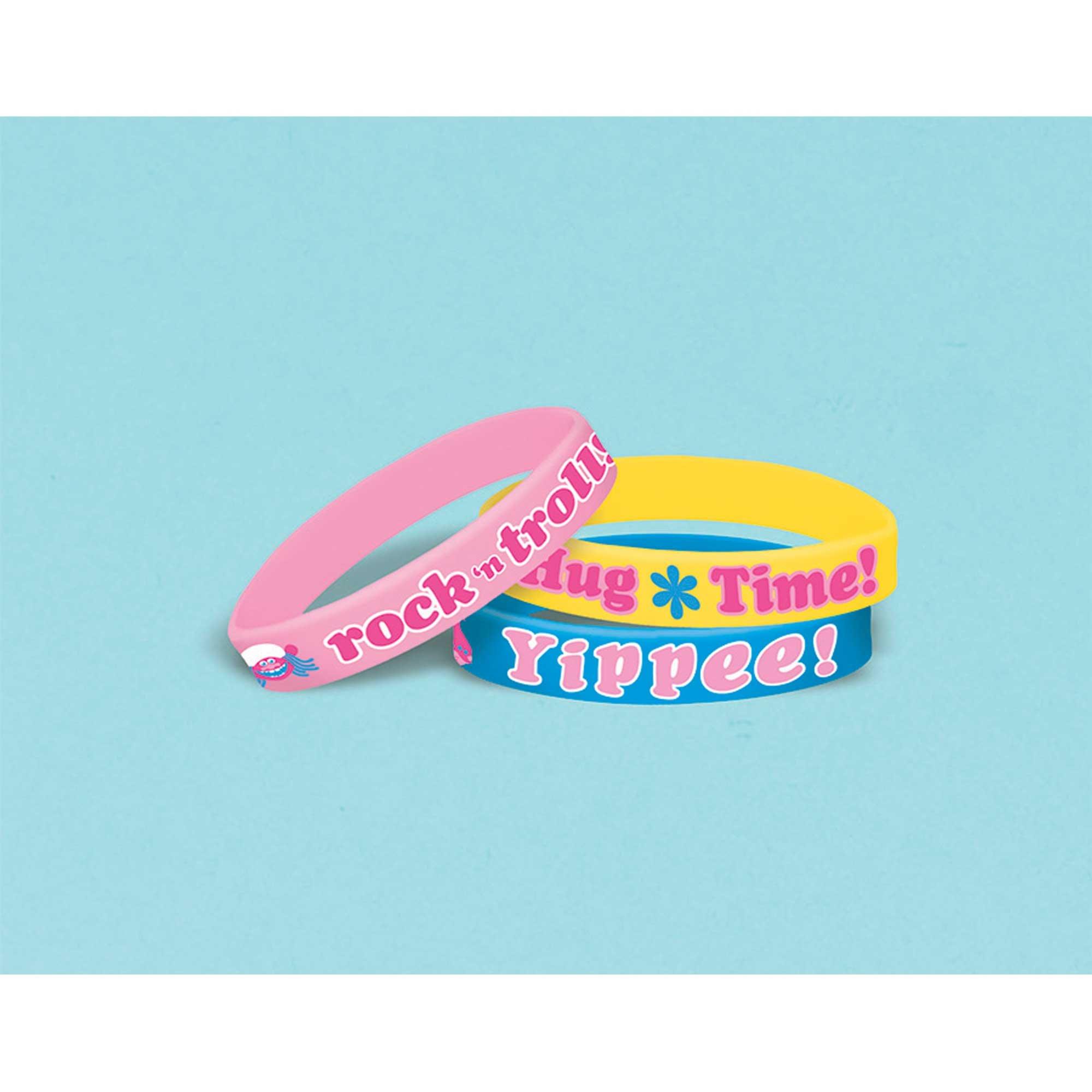 Trolls Rubber Bracelet Favor