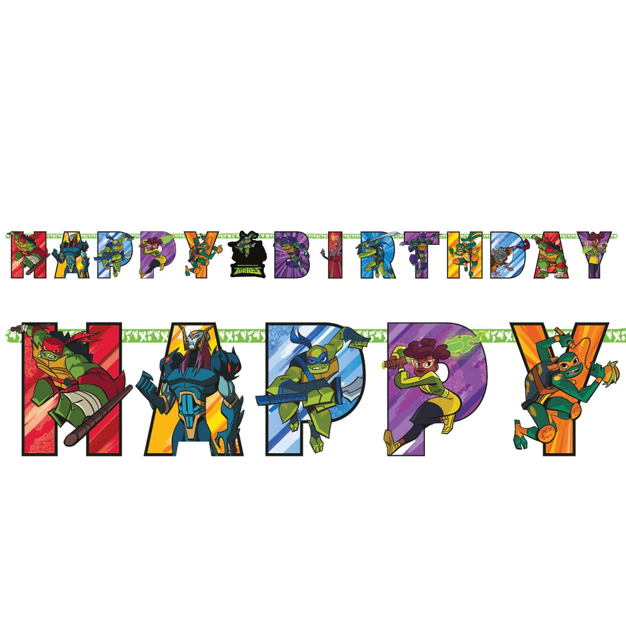 Rise of the Teenage Mutant Ninja Turtles Jumbo Add-An-Age Letter Banner