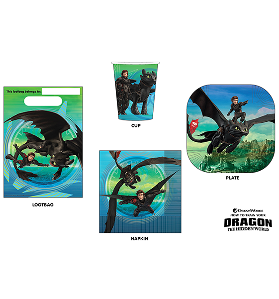 How To Train Your Dragon 3 Party Pack 40PC