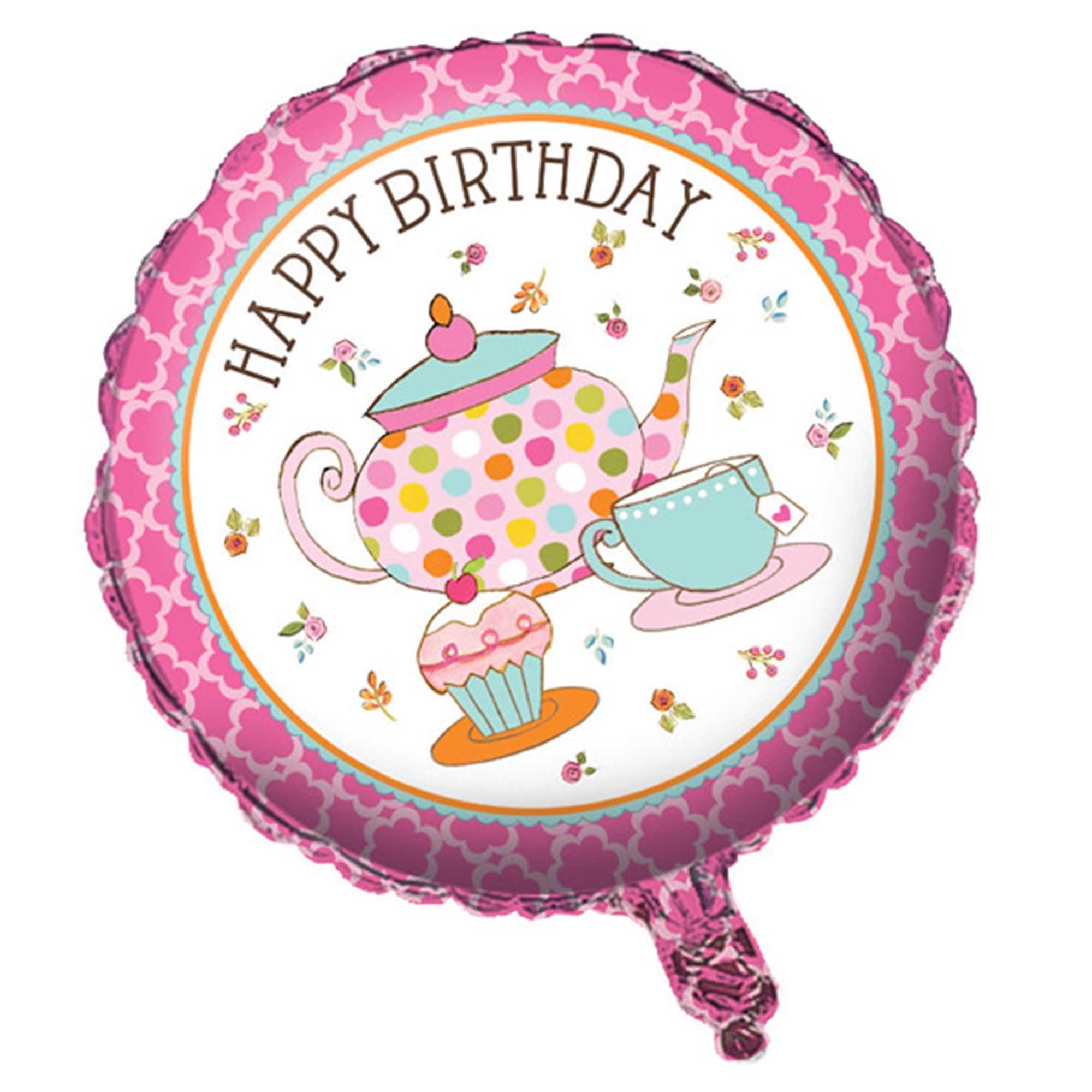 45cm Tea Time Happy Birthday