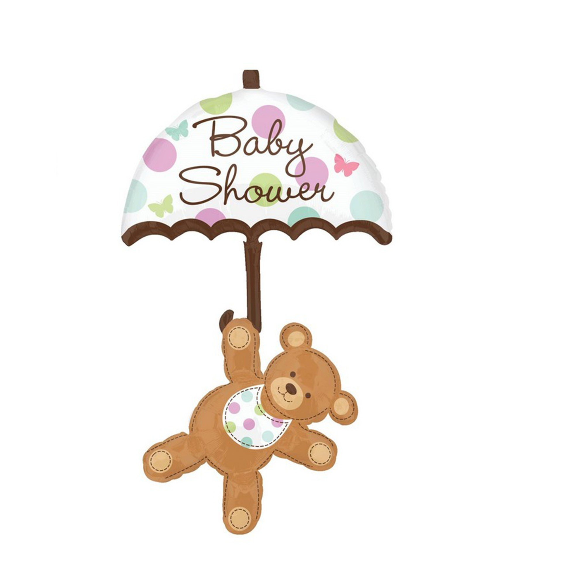 Multi-Balloon XL Baby Shower Umbrella Bear P75