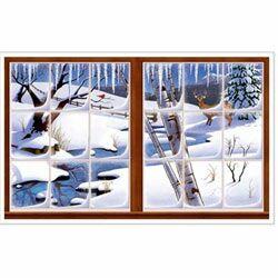Winter Snow Window Insta View Scene Setter