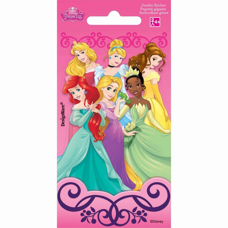 Stickers Jumbo Favor Disney Princess
