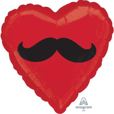45cm Standard HX Moustache Heart S40