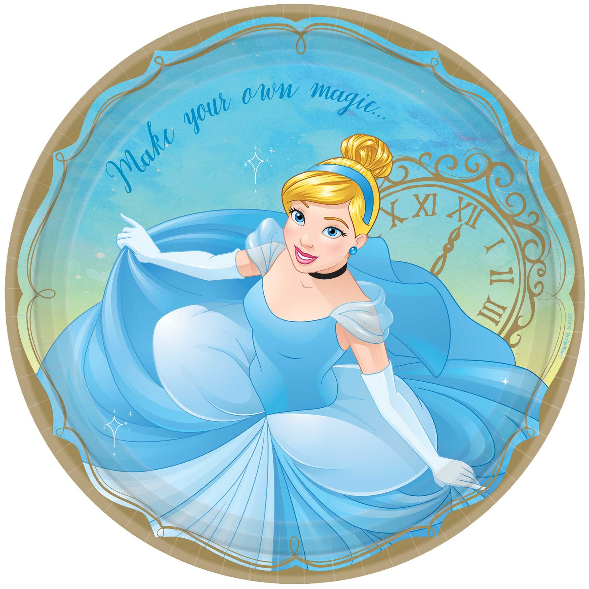 """Disney Princess Once Upon A Time 9""""/ 23cm Plates Cinderella"