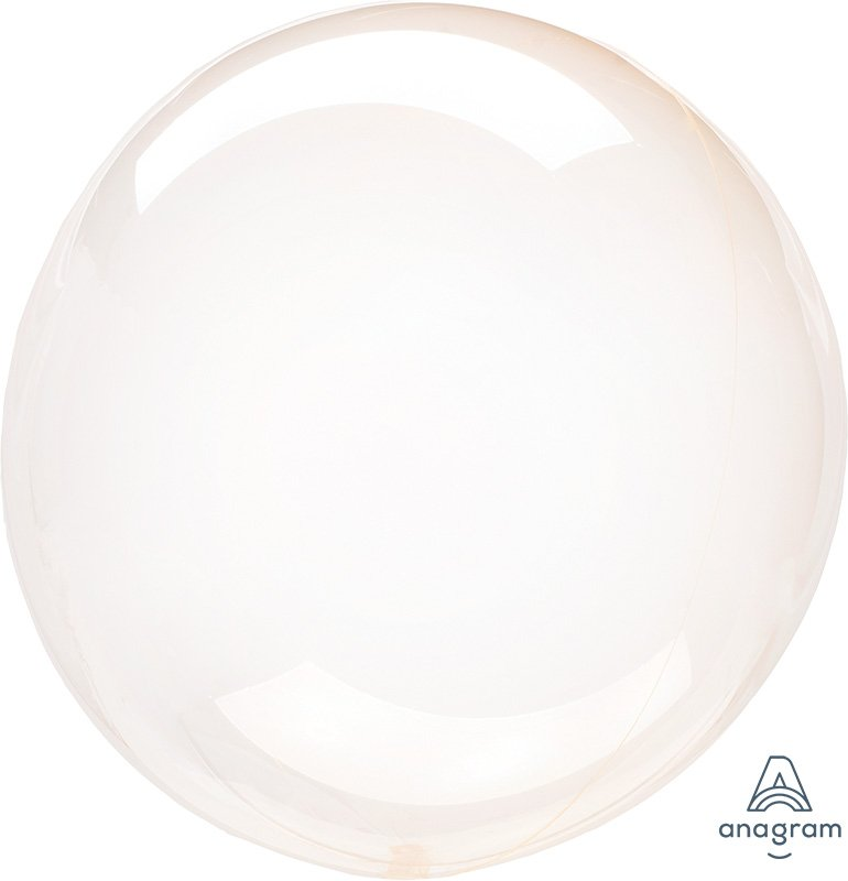 Crystal Clearz Petite Orange Round Balloon S15