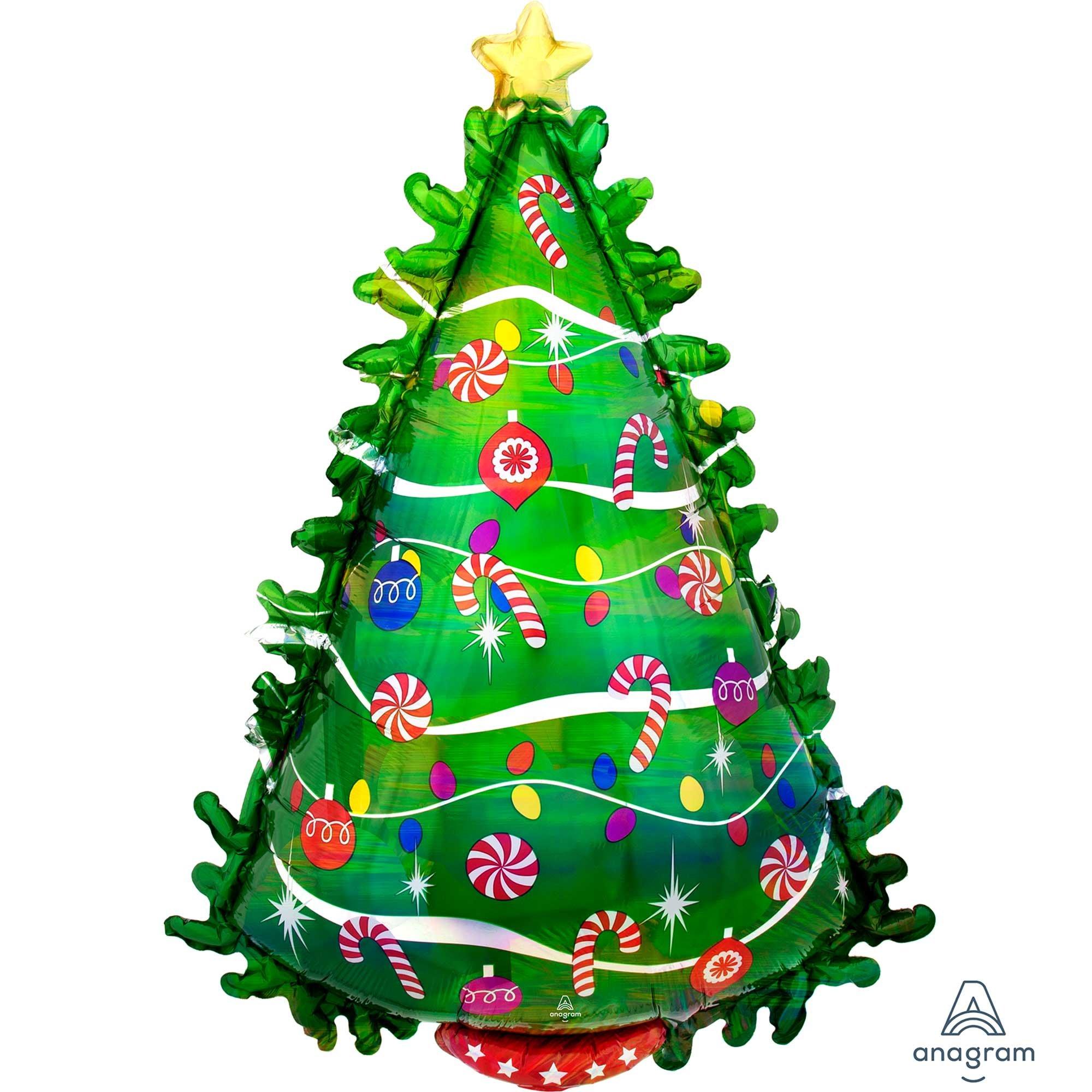 SuperShape Holographic Green Christmas Tree P40