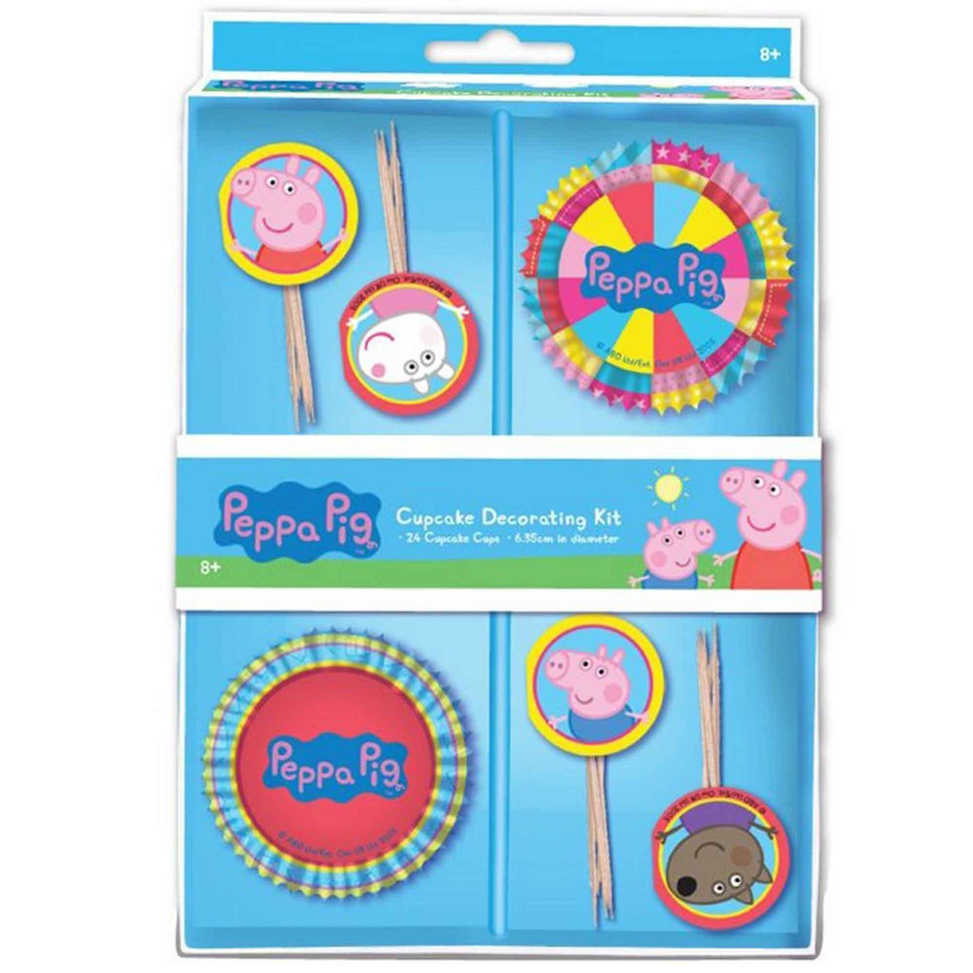 Peppa Pig Cupcake Decorations Kit