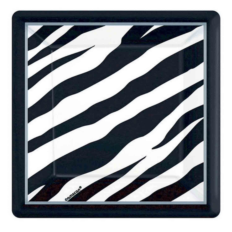 Zebra MID  Pack 17cm Square Plates