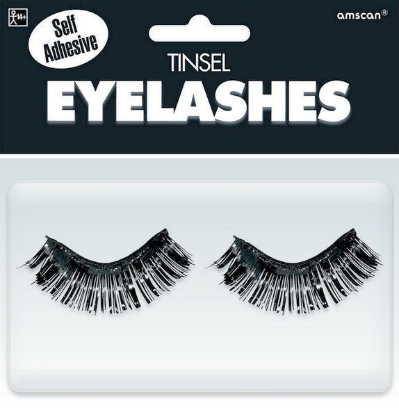 Tinsel Eyelashes - Black