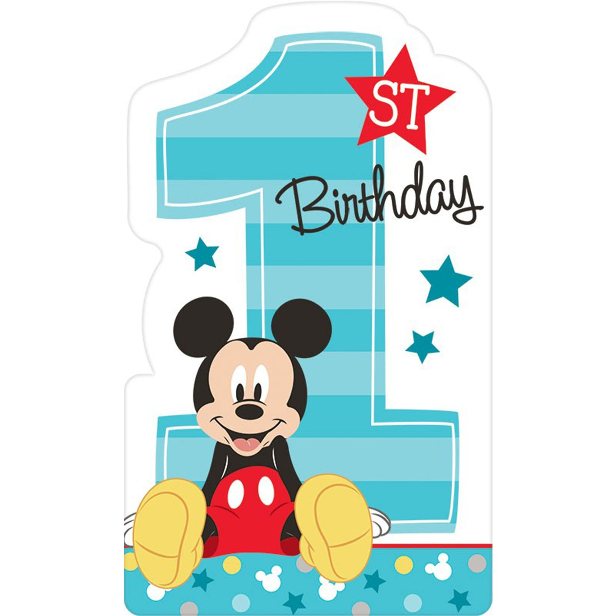 Mickey Fun To Be One Postcard Invitations