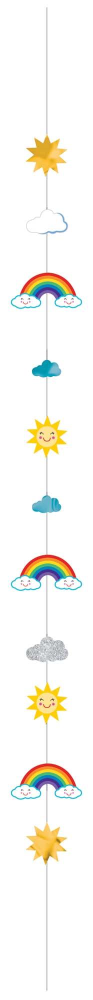 Balloon Fun Strings Sun, Rainbow & Clouds