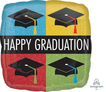 45cm Standard HX Happy Graduation Caps S40