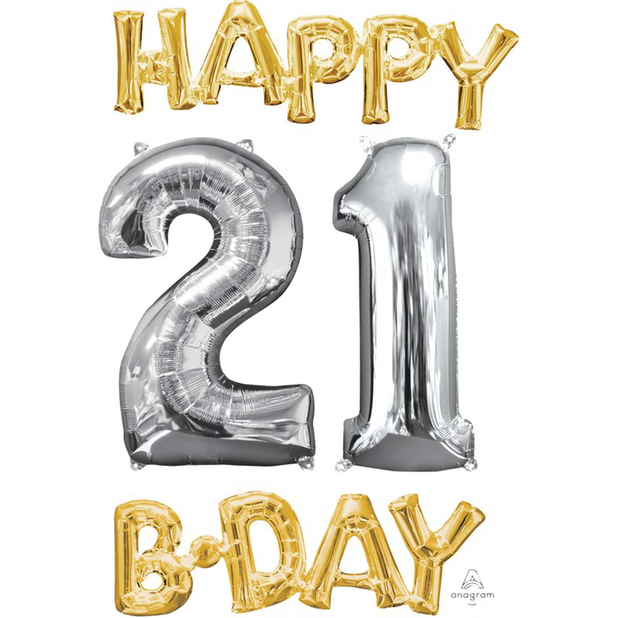 CI: Bunch Happy 21 Birthday Gold & Silver P75