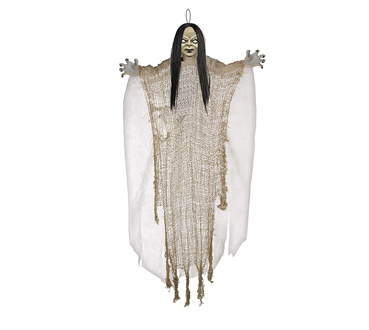 Medium Creepy Girl Hanging Prop Decoration Fabric & Plastic