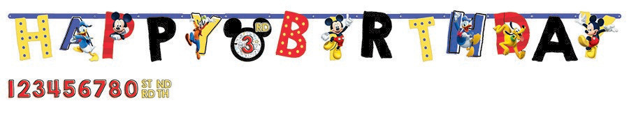 Mickey on the Go Jumbo Add-An-Age Letter Banner