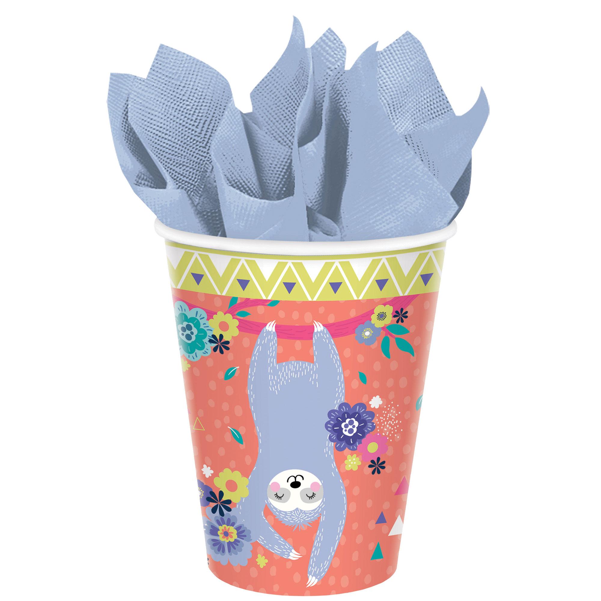 Sloth 9oz / 266ml Paper Cups