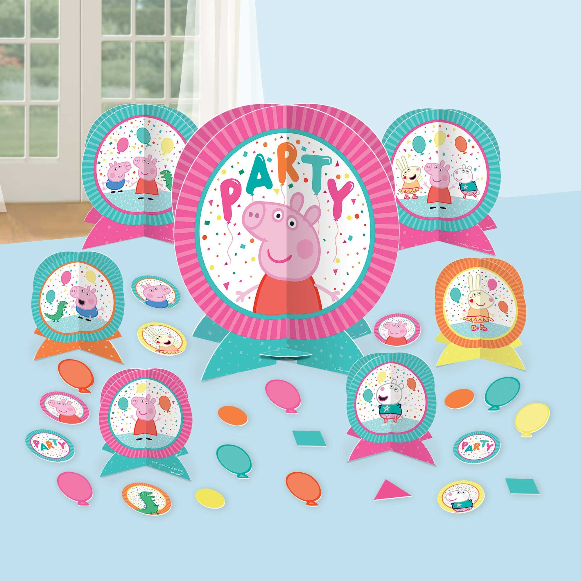 Peppa Pig Confetti Party Table Decorating Kit