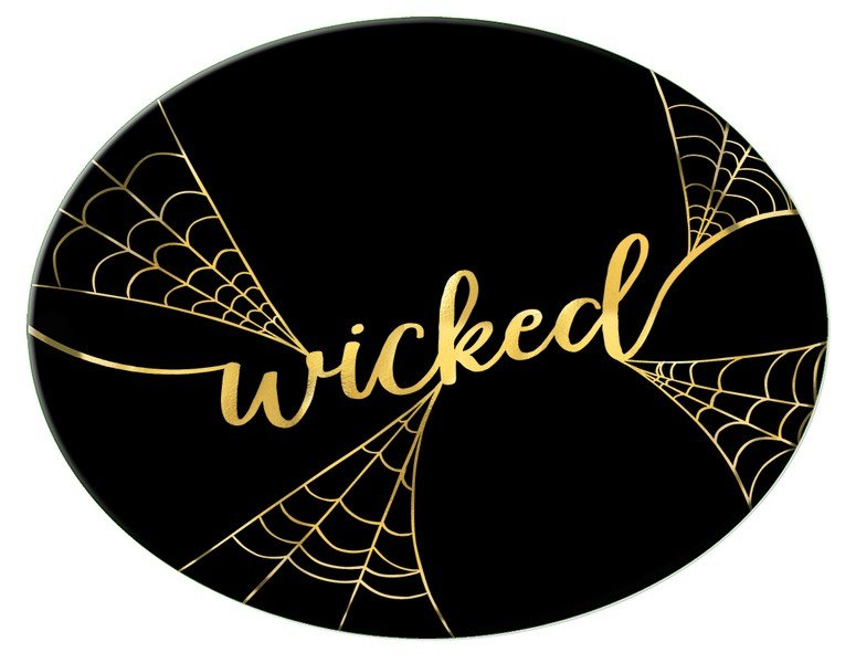 Wicked Platter Hot Stamped Plastic