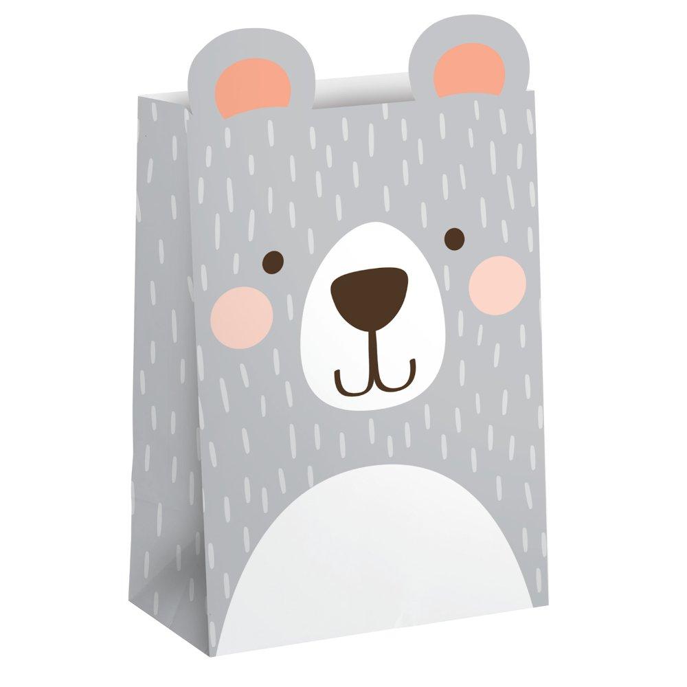 1st Birthday Bear Paper Treat Bags 20cm x 11cm