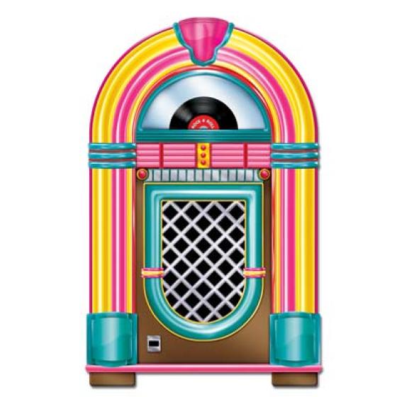 Rock & Roll Neon Jukebox Cutout