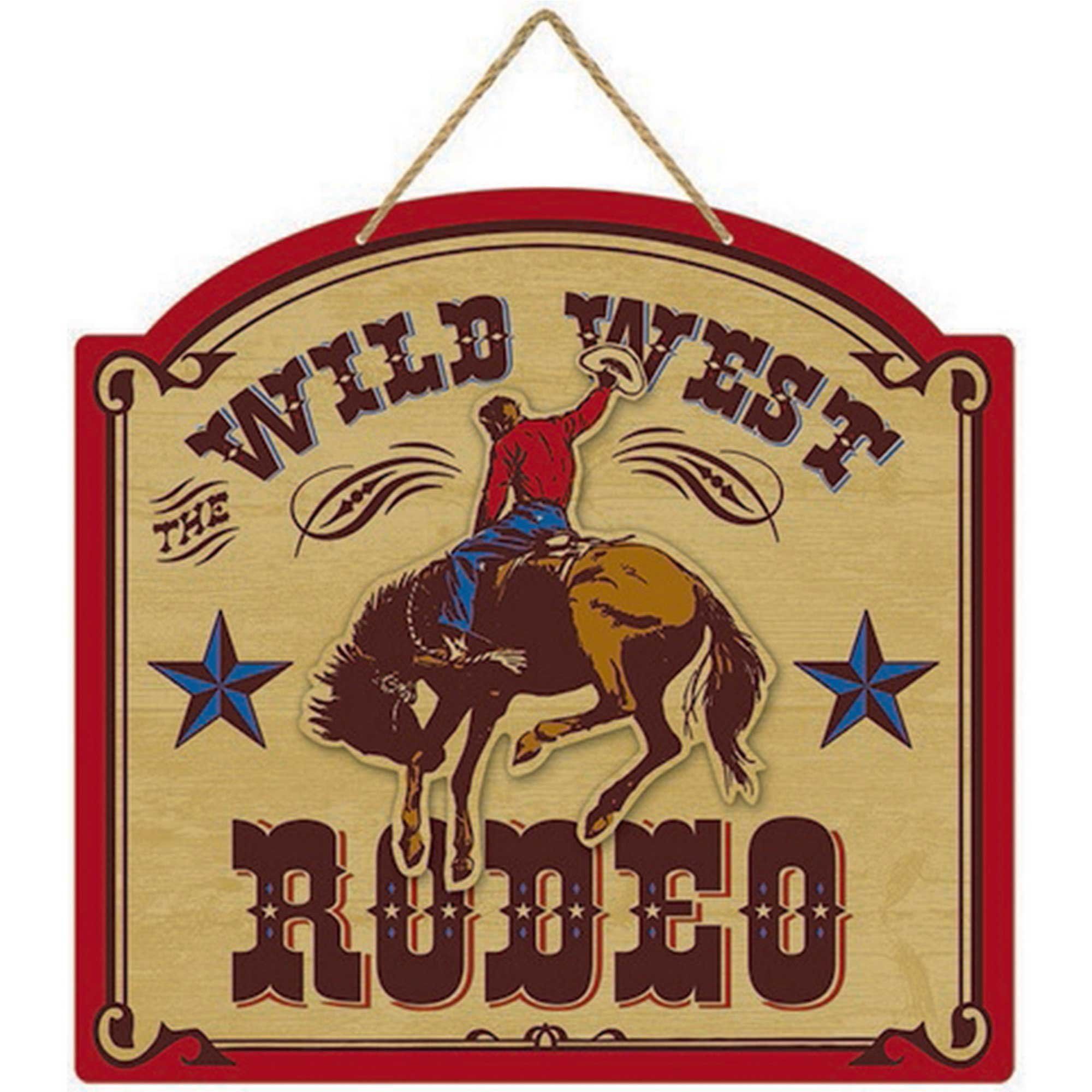 Western Deluxe MDF Sign