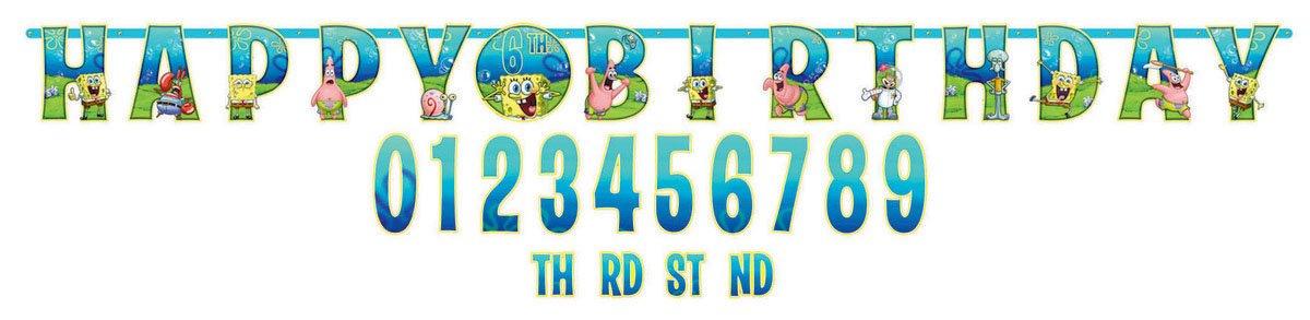 Spongebob Jumbo Add-An-Age Letter Banner