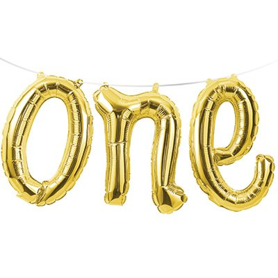 Shape one Gold Balloon Foil