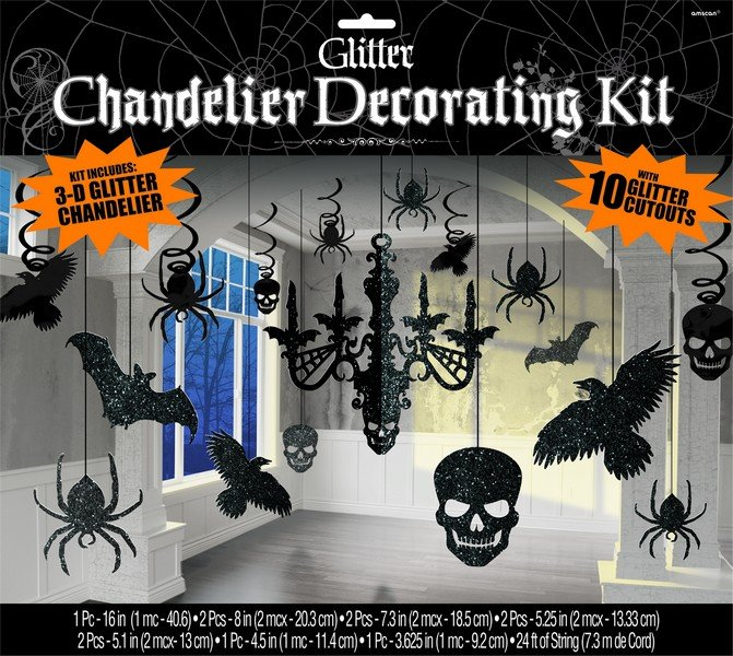 Chandelier Decorating Kit Glittered Cardboard