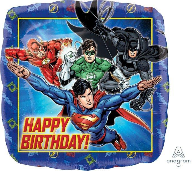 45cm Standard HX Justice League Happy Birthday S60