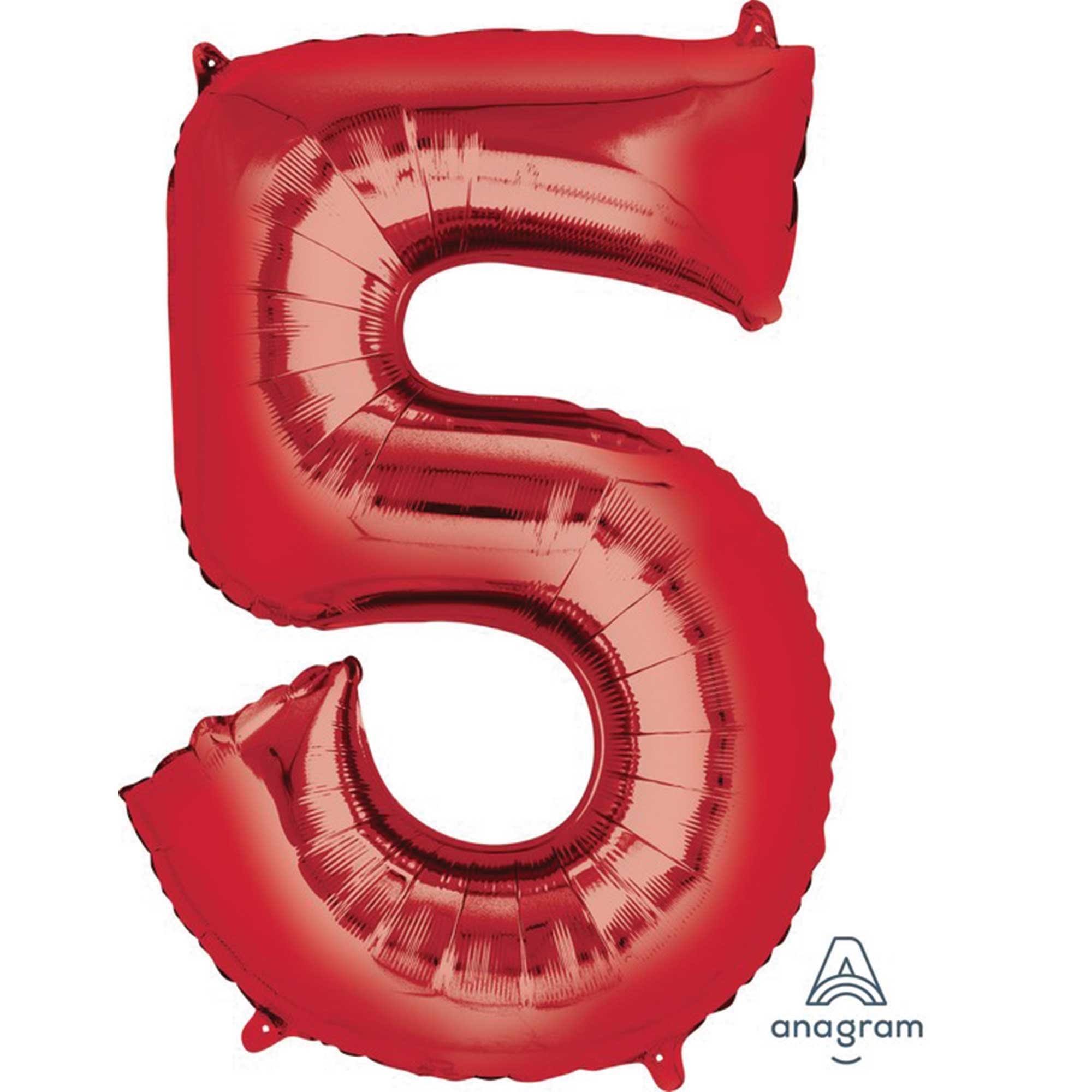 SuperShape Red Numeral 5.  L34