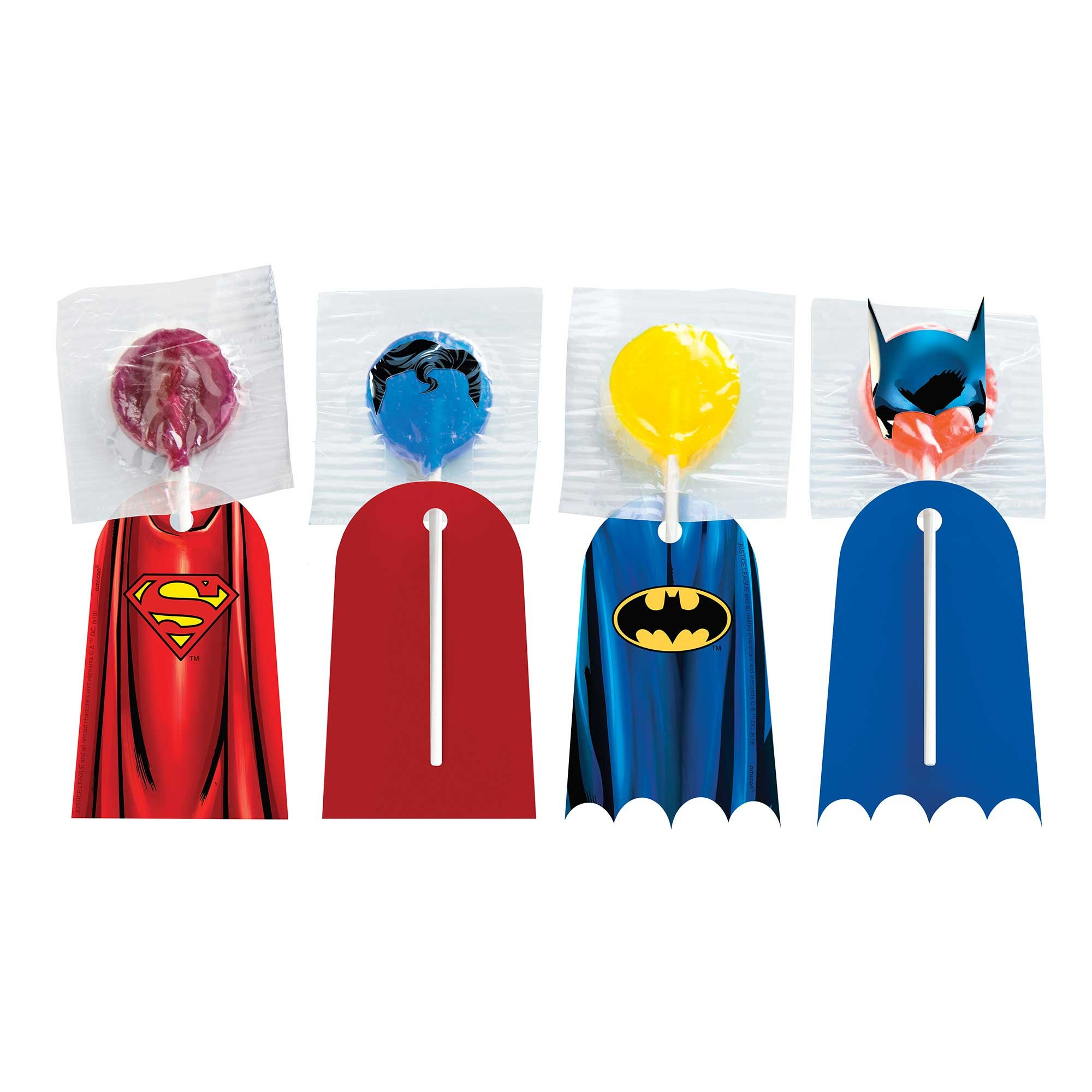 Justice League Heroes Unite Batman & Superman Lollipop Capes
