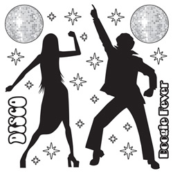Disco Silhouettes Wall Decorations Insta-Theme Props