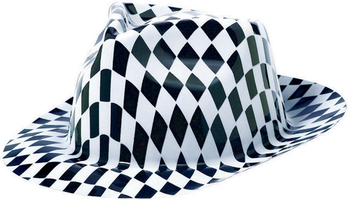 Classic 50's Fedora Hat White Black