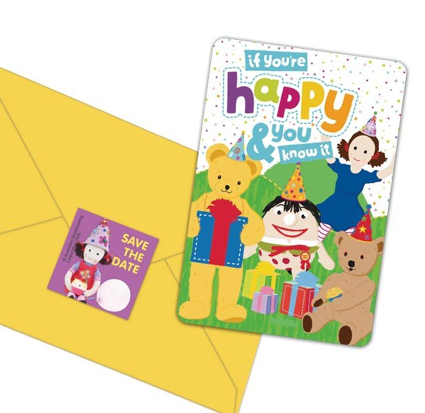 Play School Postcard Invitations