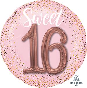 Multi-Balloon Sweet Sixteen Pink Blush P75