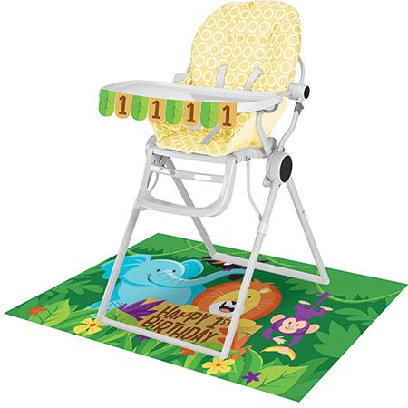 Jungle Safari High Chair Kit 1st Birthday