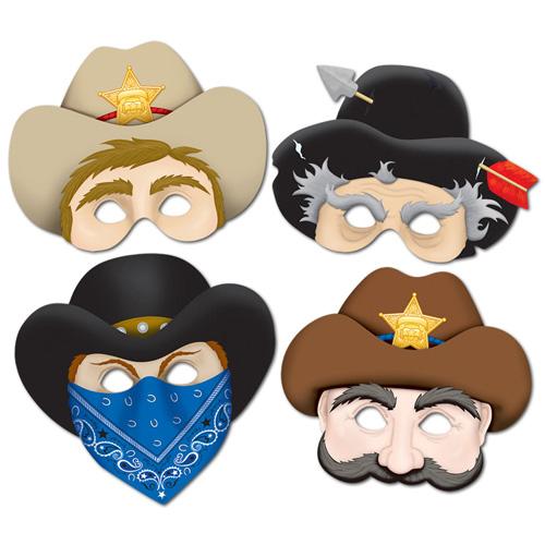 Western Masks Assorted Designs & Sizes