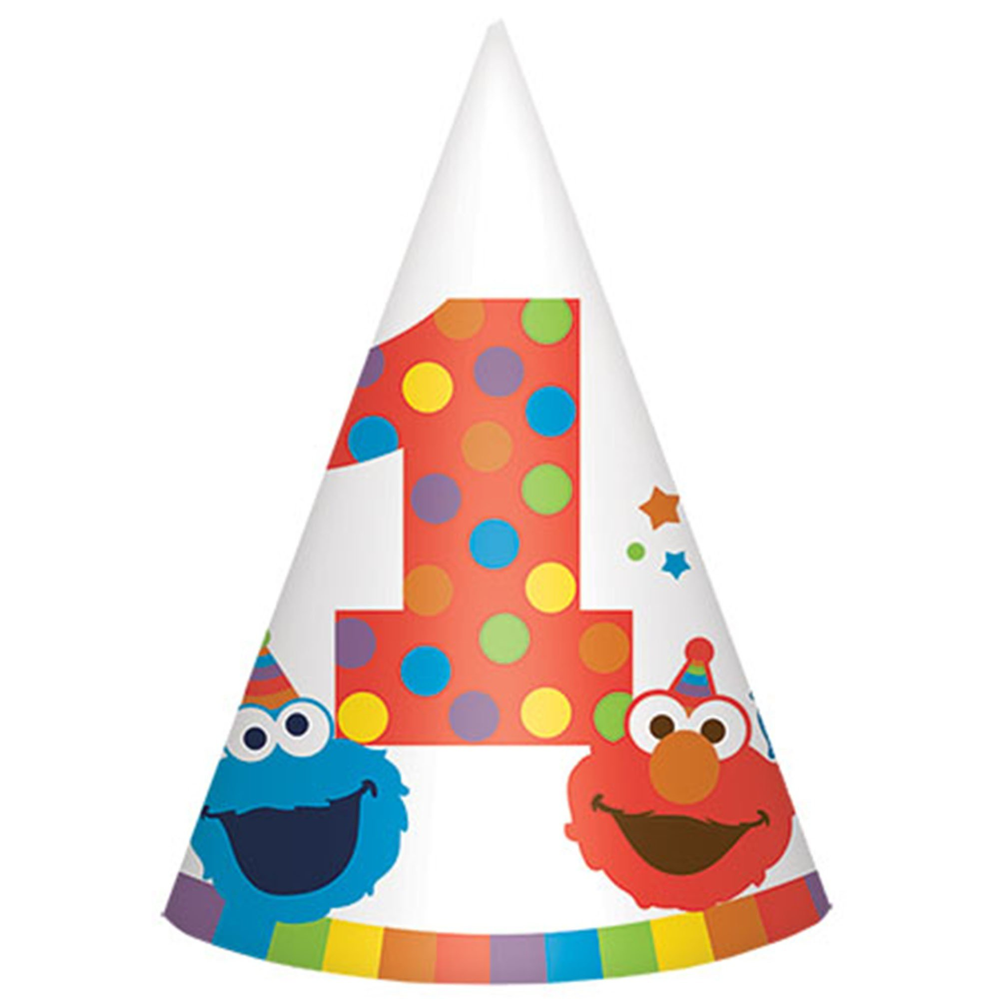 Elmo Turns One Cone Hat