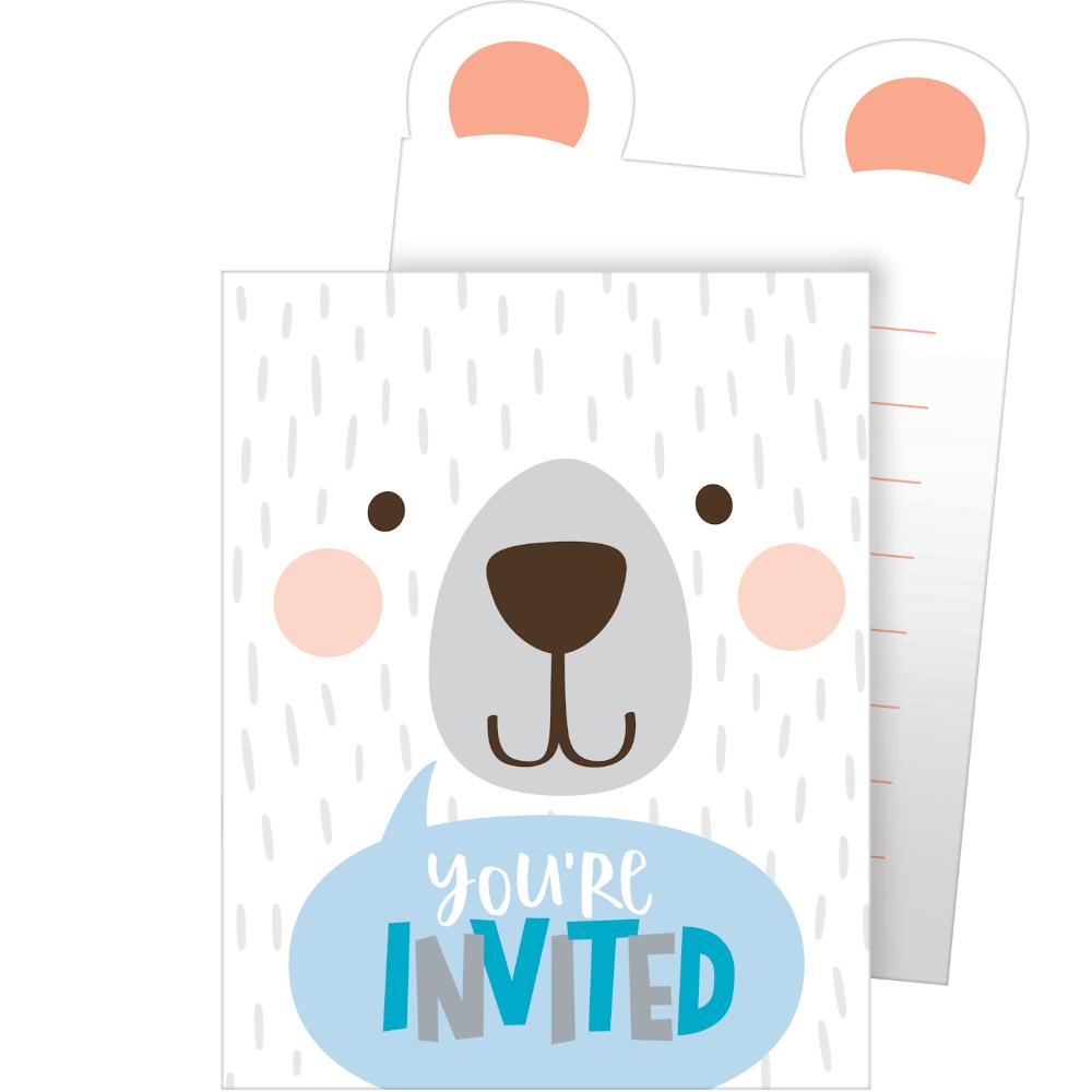 1st Birthday Bear Invitations Pop-Up Style 15cm x 10cm