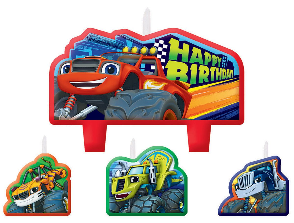 Blaze Birthday Candle Set