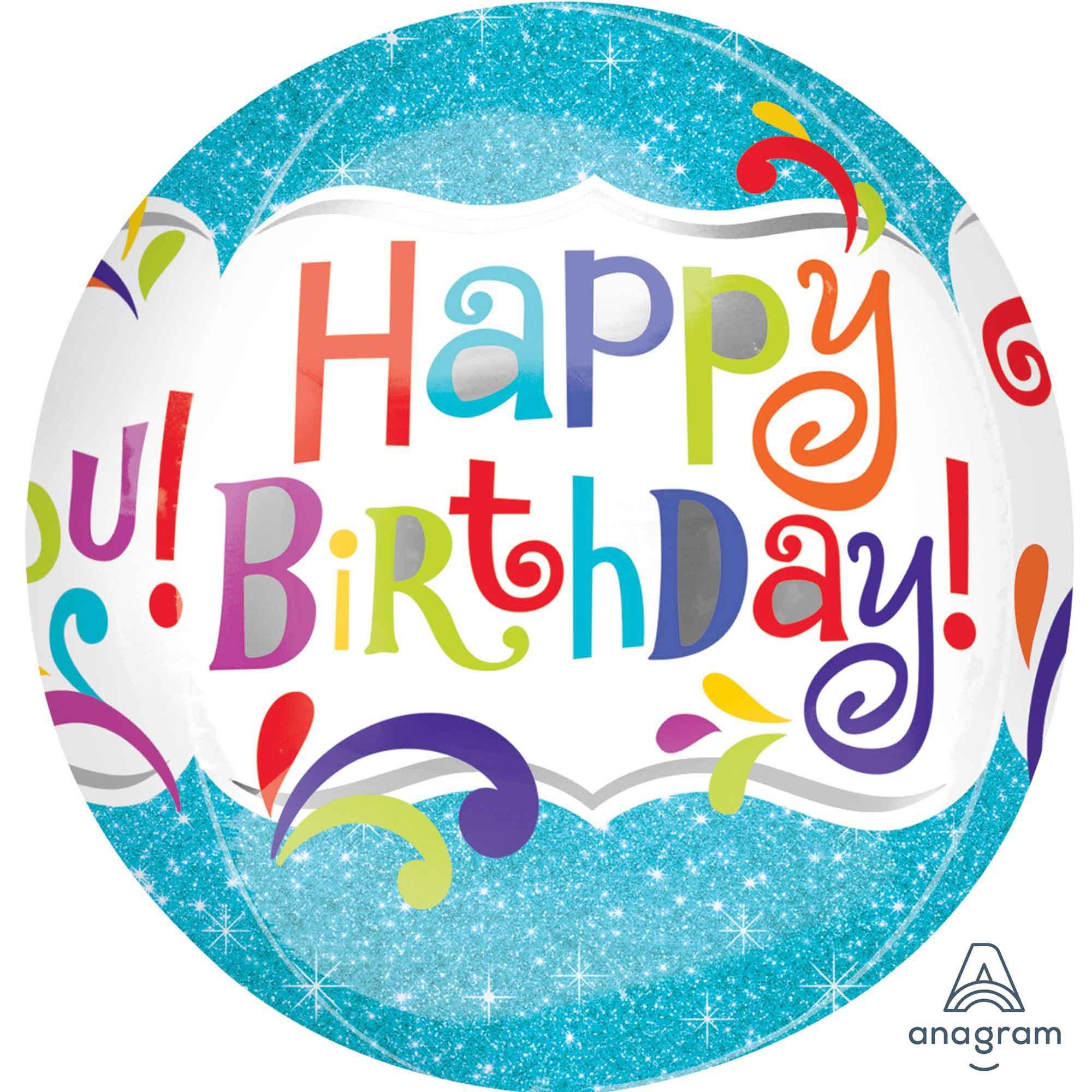 Orbz XL Happy Birthday Splashy Sparkle G20