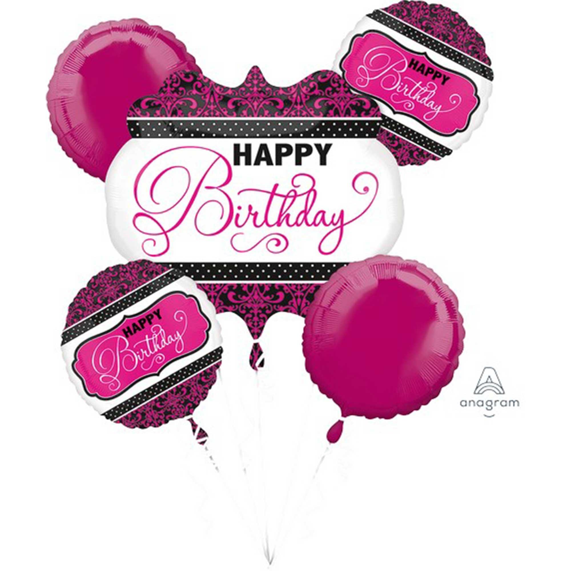 Bouquet Pink, Black & White Birthday P75