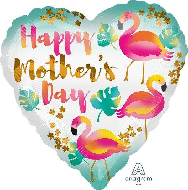 45cm Standard HX Happy Mother's Day Flamingos S40