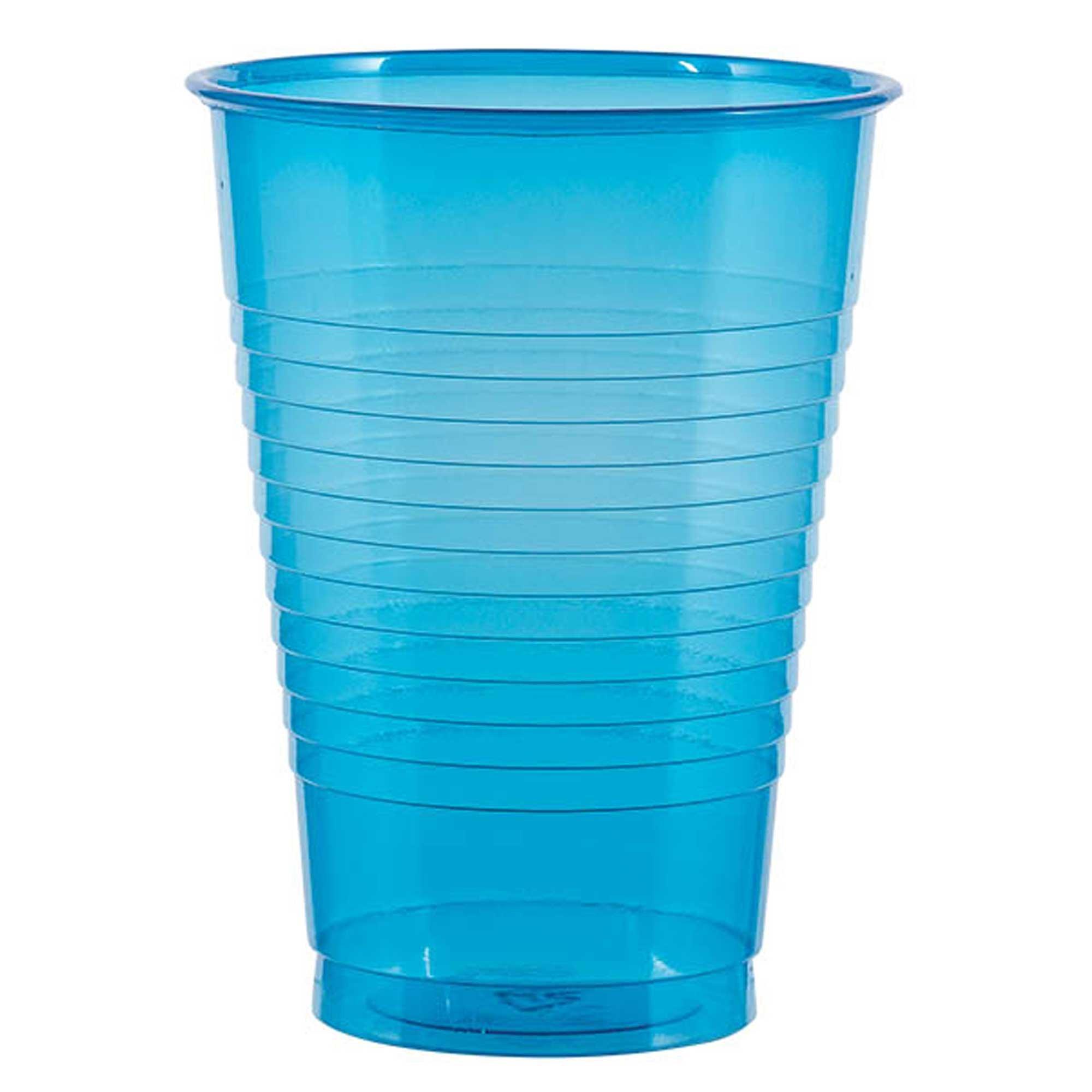 Neon Glasses Blue Plastic 16oz/473ml