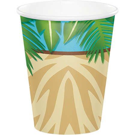 Safari Adventure Paper Cups Hot/Cold 266ml
