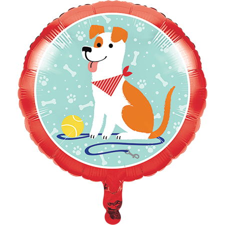 45cm Dog Party Foil Balloon
