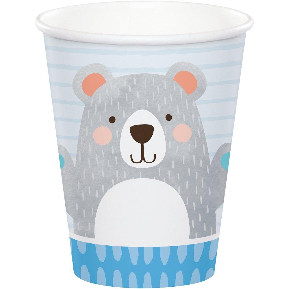 1st Birthday Bear Cups Paper 266ml