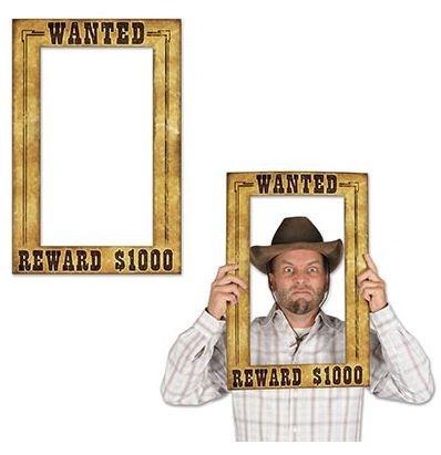Western Wanted Reward $1000 Photo Prop Fun Frame